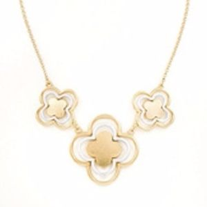 Jewelry - Layered Metal Quatrefoil Necklace