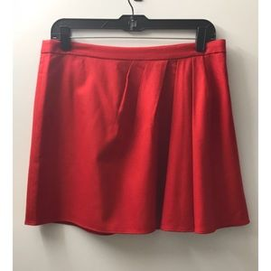 J. Crew Red Wool Blend Mini Skirt