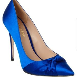 Nicole Miller Jeffrey Cobalt blue heels sz 7 NIB