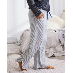 High Waisted Ruffle Hem Pajama Pant