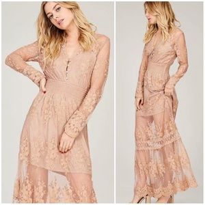 🆕Lily Ethereal Nude Lace Maxi Dress