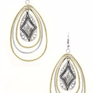 Textured Metal Teardrop Earrings