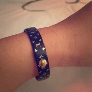 Louis Vuitton Nanogram Bracelet Black Gold