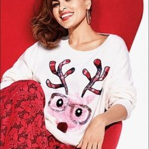 NY & Co. Reindeer Christmas Sweater XL super cute!