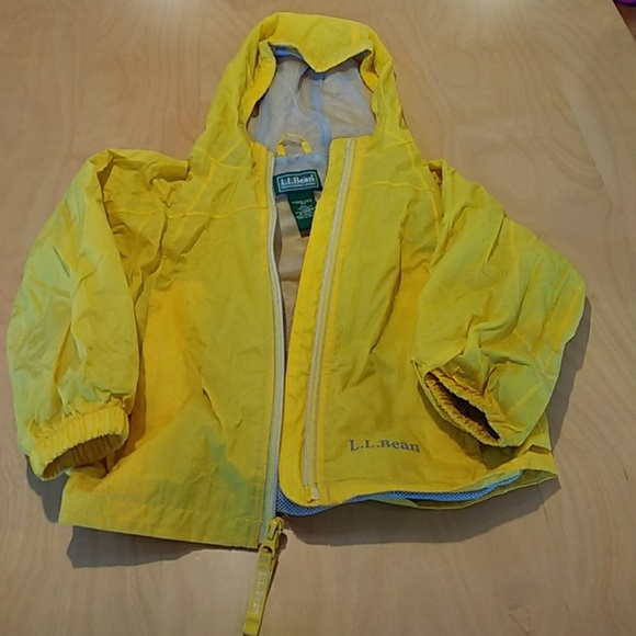 LL Bean kids yellow raincoat