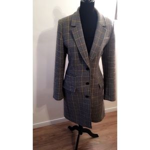 Banana Republic Wool Blend 3 Button Lng Coat WMN L