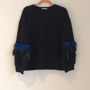 Zara feather top