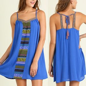 Dress Size S M L Blue Aztec Tank Shift Tunic