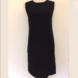 Halogen black fitted sleeveless pencil dress