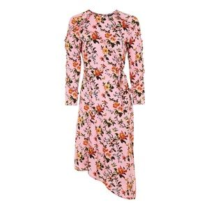 Topshop Floral Ruffle Midi Dress, NWT size 2