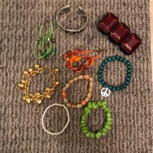 Jewelry - Lot of super fun bracelets & free surprises