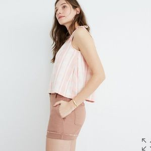 NWT Madewell salmon colored high rise twill shorts