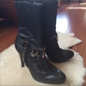 👢 BABY PHAT Black leather boots w/chains