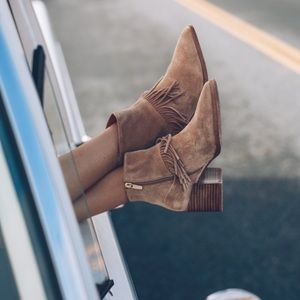 Suede Fringe Matiko Ankle Boots