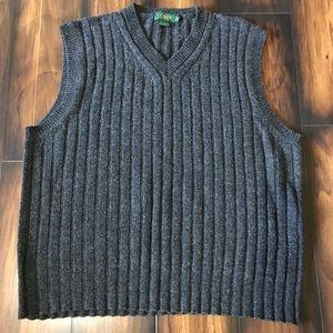 Men's J. Crew Lambswool Sweater Vest Size Large