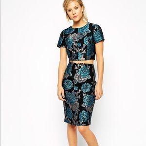 ASOS Floral Jacquard Skirt - BNWT!!
