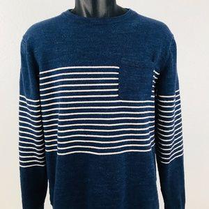 J. Crew Men's Blue Crew Neck Sweater - Medium
