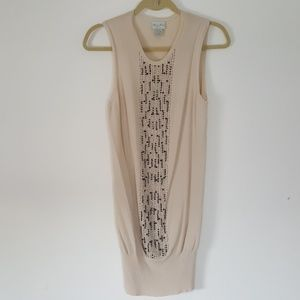 Tracy Reese beaded front tunic dress