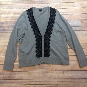 Torrid Size 3 Button Down Gray and Black Cardigan