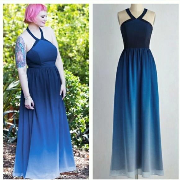 Blue Ombre Dress