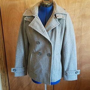 Gray wool blend Calvin Klein coat size 6