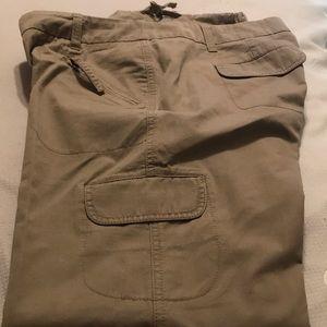 New York and Company khaki cargo pants