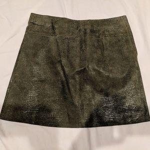 Leather mini skirt from Bebe