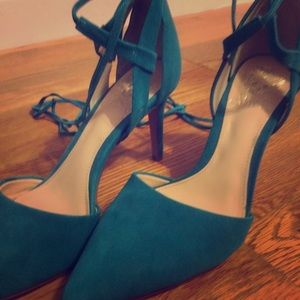 Strappy team heels