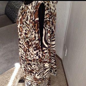 Tiana B Dresses - Animal Print Cold-Shoulder Top & Skirt Set