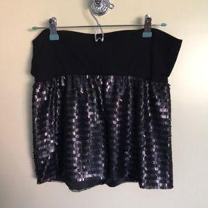 Bebe sequin mini skirt