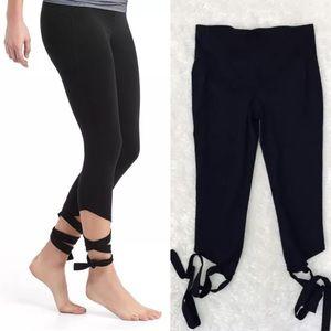Gap Fit Barre Strap Tie Leggings L High Rise