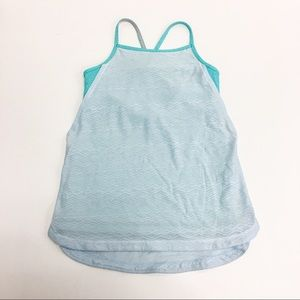 Ivivva Seafoam Green Athletic support Tank Top