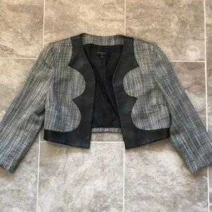 Nine West Leather Trimmed Suit Jacket