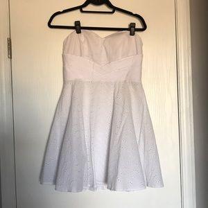 Strapless little white dress