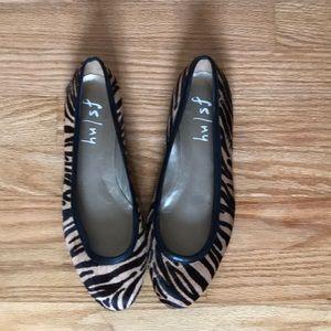 FS/NY Shoes - Pony hair animal print flats