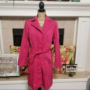  Hot Pink Bandilino Trench Coat
