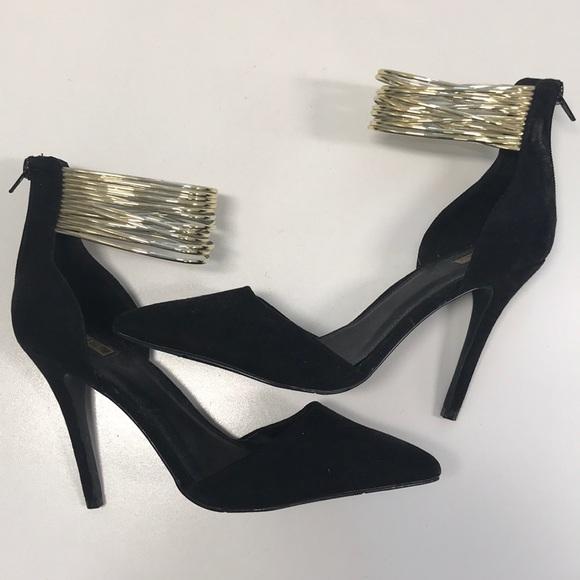 Gold Ankle Strap Heels Forever