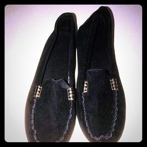 Black Loafer slip one