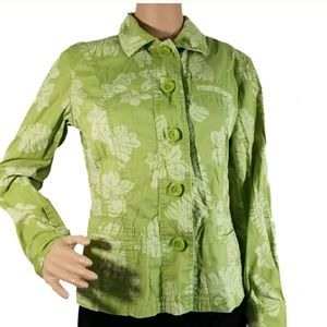 chicos womens jacket size 0 long sleeve floral