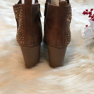 3a33f681ff0ae Maurices Shoes - Brandy Embellished Heeled Bootie NEW
