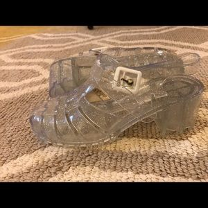 ASOS clear Jellies, size 8.