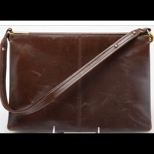 Rodo Two-sectioned Leather Envelope Clutch