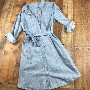 🤰🏻 Chambray / denim Maternity Dress