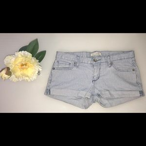 Bullhead Blue and White PinStripe Shorts Size 5