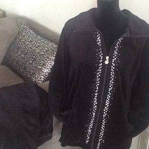 Black Velour Jacket & Pant Set.      FIRM PRICE.