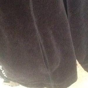 Catherines Jackets & Coats - Black Velour Jacket & Pant Set.      FIRM PRICE.