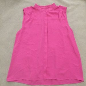 EUC J.Crew Factory Button Up Sleeveless Blouse