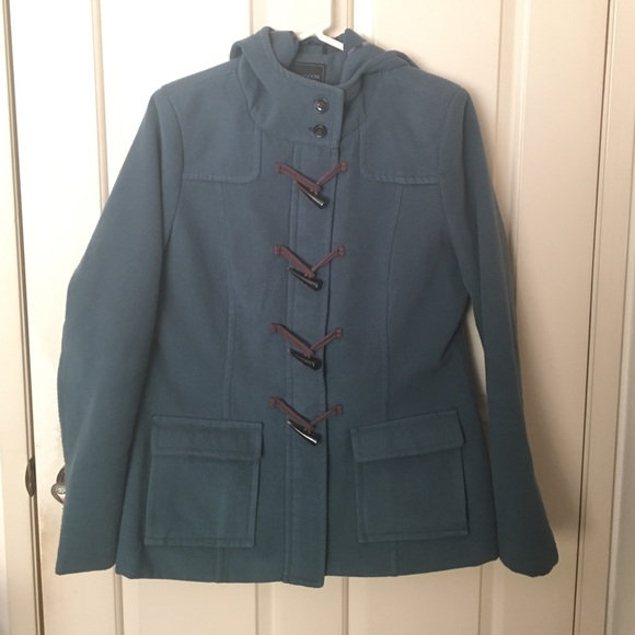 Tamnoon Jackets & Blazers - Tamnoon Teal green toggle hooded coat jacket