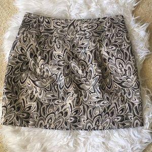 Ann Taylor Loft Jacquard Mini Skirt