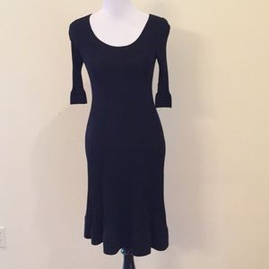 Rebecca Taylor Black Sweater Dress